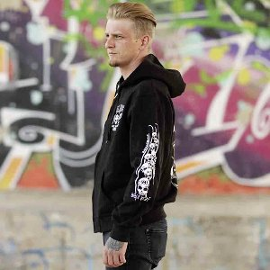 Kapuzenjacke Billy Eight Inky Fool Logo