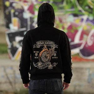 Kapuzenjacke Billy Eight Racer Logo