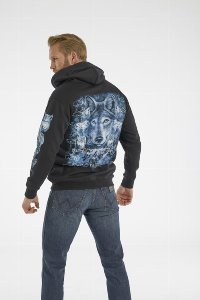 Wolves and Biker Kapuzenjacke