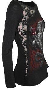 Spiral Dragon Rose Longshirt