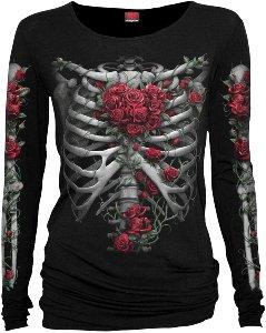 Spiral Rose Bones Longshirt