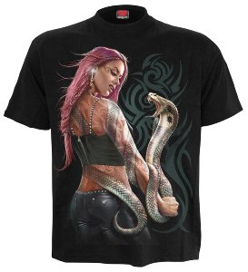 Spiral T-Shirt Serpent Tattoo