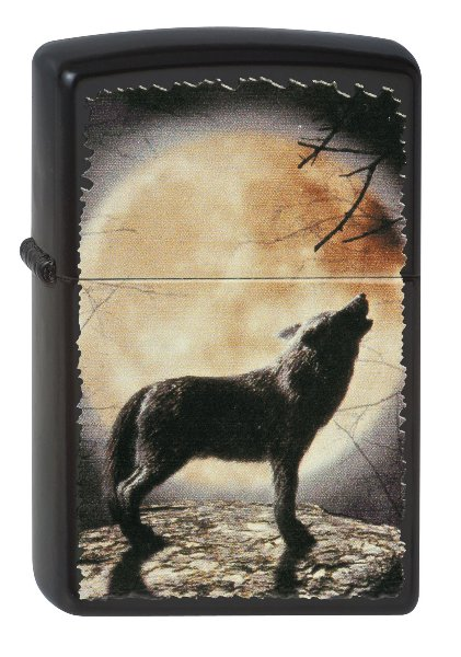 PL 218 WOLF HOWLING TO THE MOON