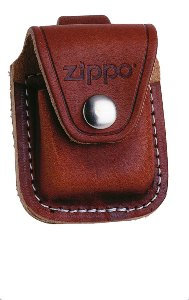 ZIPPO LPLB POUCH BROWN W/ LOOP