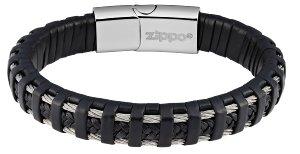 Steel Braided Leather Bracelet
