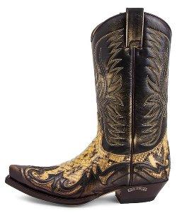 Sendra Boots 3241 P Cuervo Tierra Piton 075 Westernstiefel
