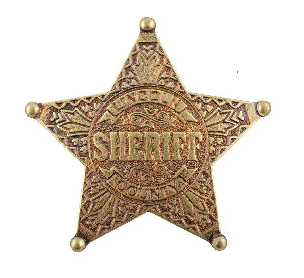 "Sheriffstern""Lincoln county"""