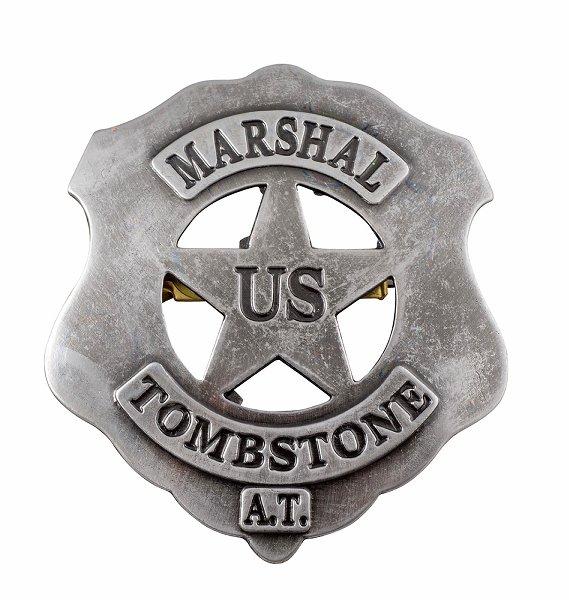 US-Marshall Badge Tombstone