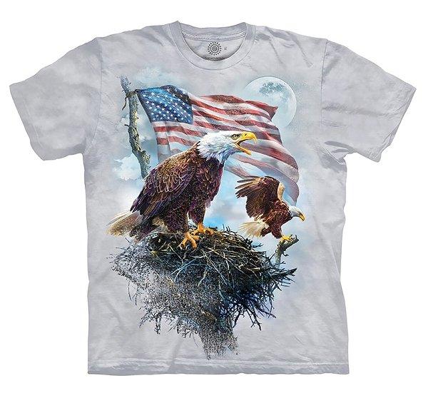 American Eagle Flag Adult T-Shirt