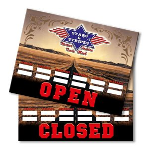 STARS & STRIPES OPEN/CLOSED SIGN