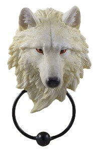 Türklopfer Weißer Wolfskopf