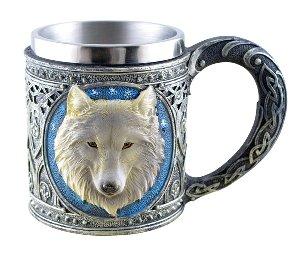 Keltischer Krug grauer Wolf