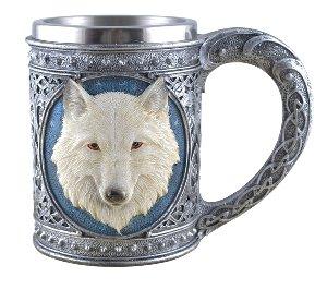 Keltischer Krug weißer Wolf