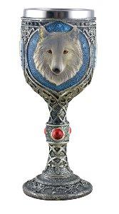 Kelch grauer Wolf m. Metalleinsatz