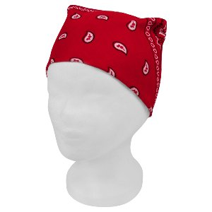 Bandana Kopftuch Halstuch Paisley rot