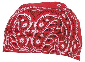 Headwrap, paisley-rot