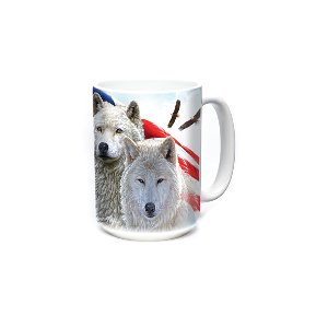 Patriotic Wolves 15oz