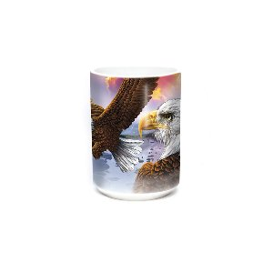 Eagle & Clouds 15oz Bird