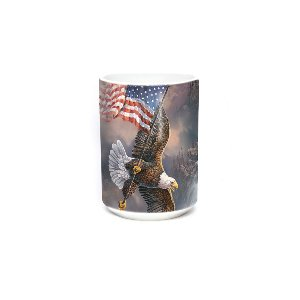 Flag Bearing Eagle 15oz Bird