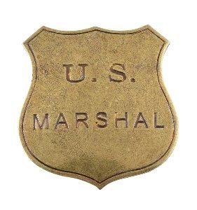 US-Marshall Badge messingf.